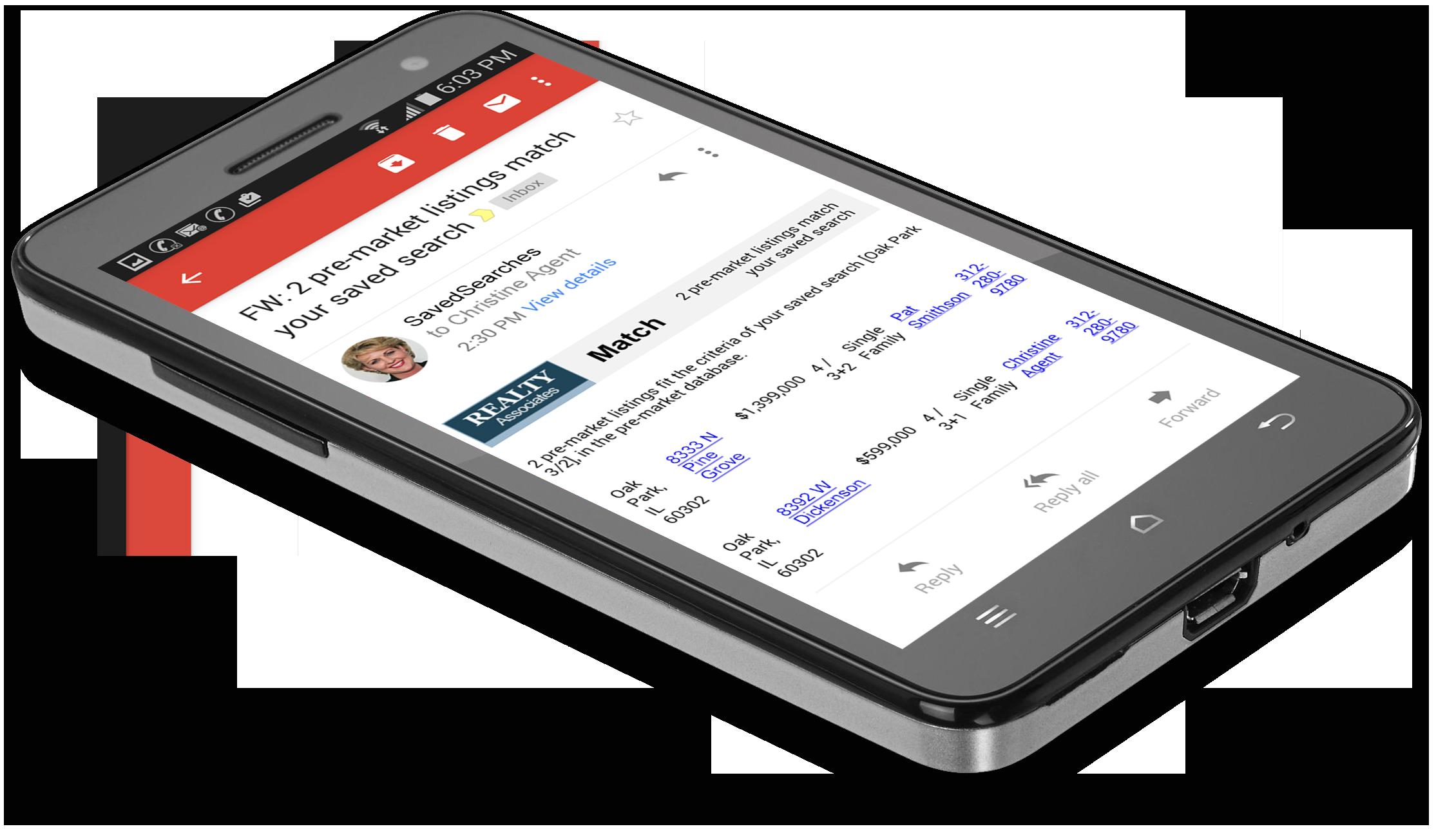 Admaster pre-market listing database email match alerts