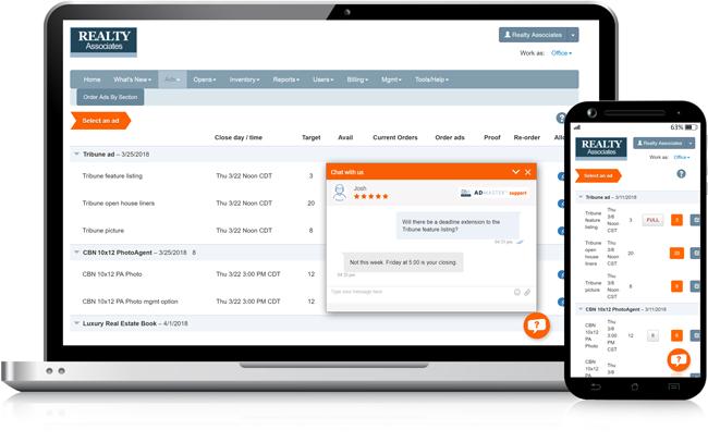AdMaster™ online chat support