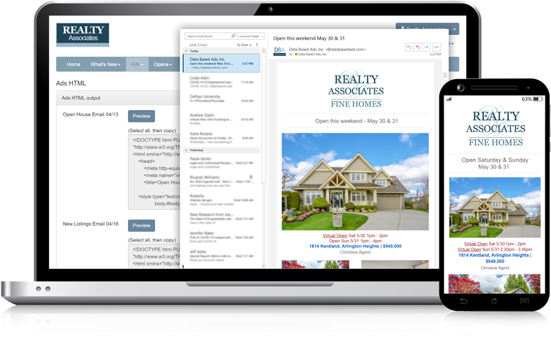Admaster - Multi-property HTML email user interface