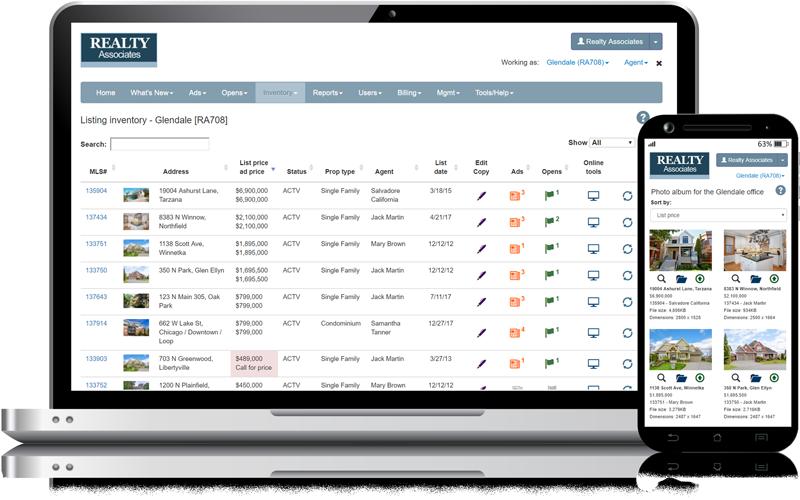 Admaster Listing management, Listing inventory, Photo album