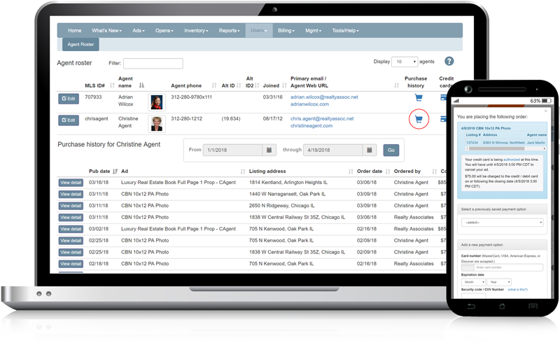 Admaster e-commerce | billing management | expense tracking