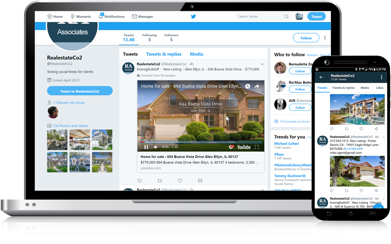 Admaster - Social media feeds