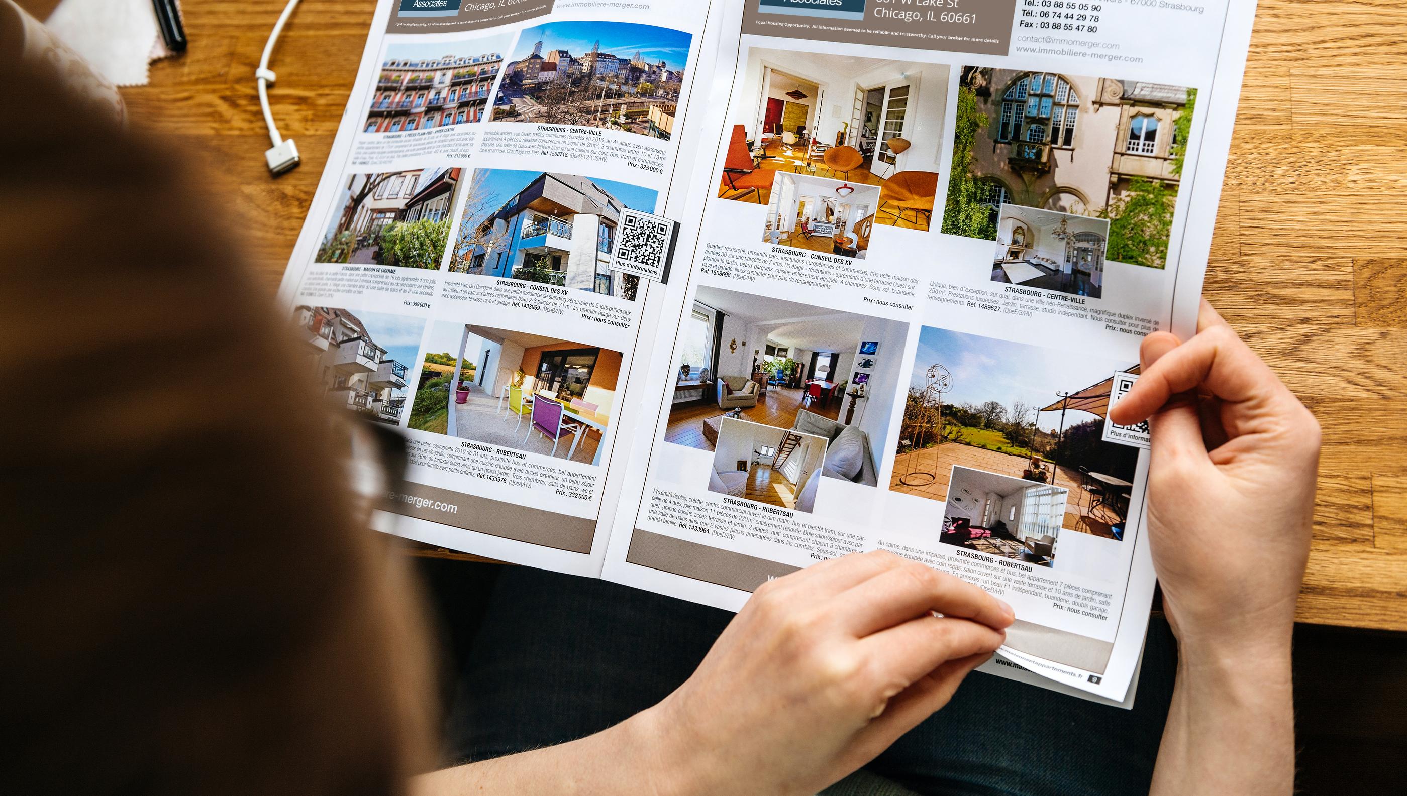 Data Based Ads' Admaster real estate magazine production