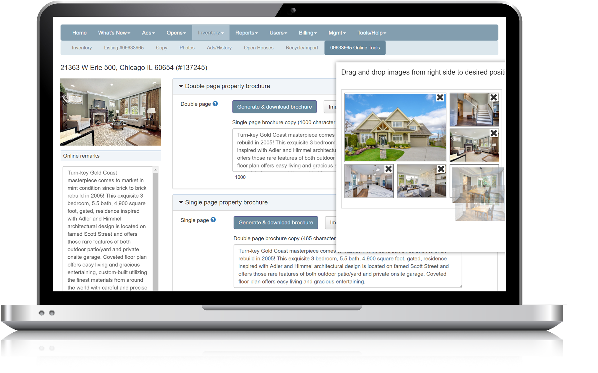 Property brochure | Automated listing flyer | Real estate property